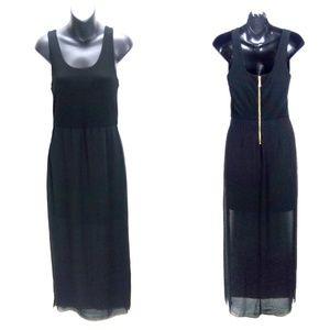 Vince Camuto Black Split Side Hem Maxi Dress Sz S
